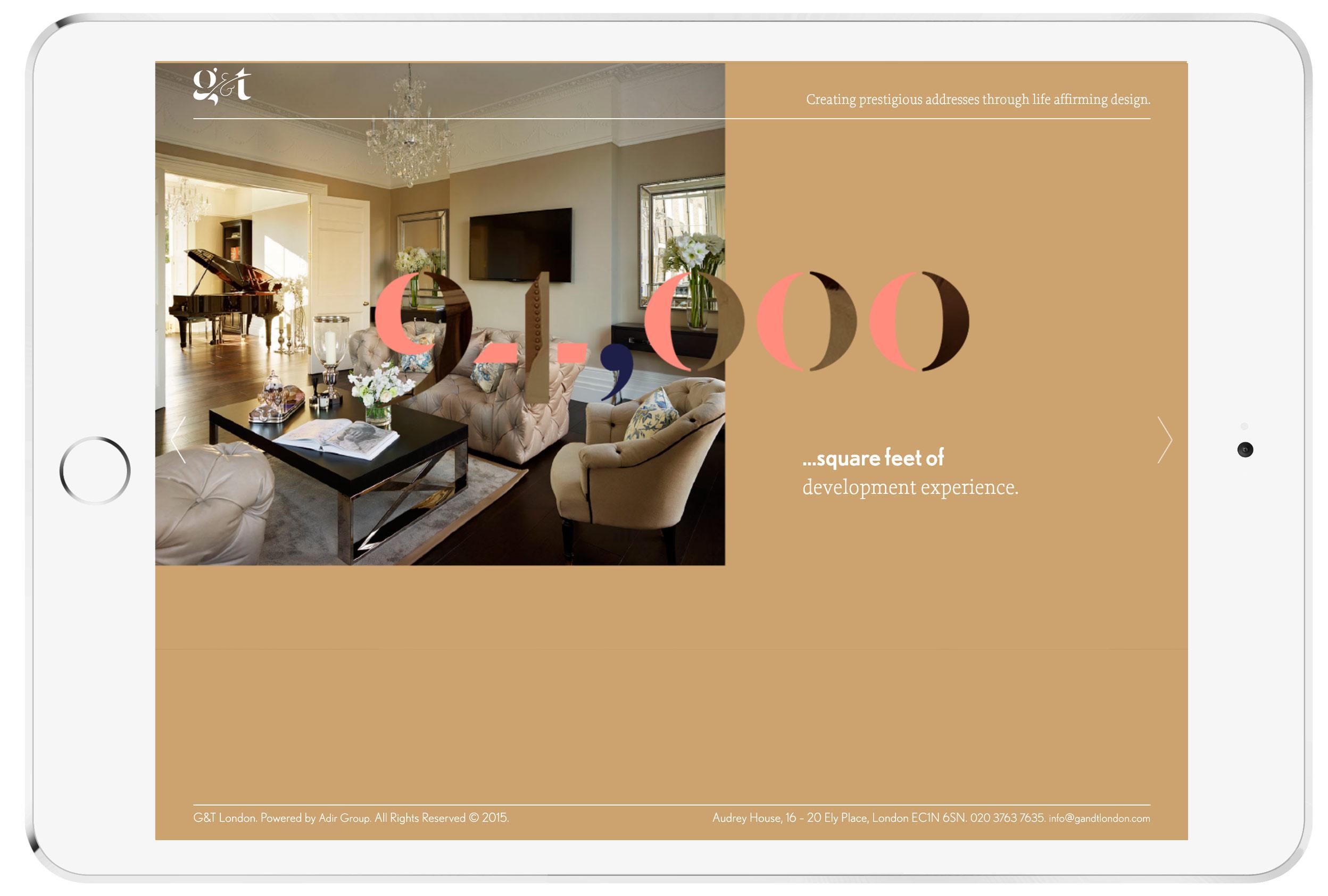 g and t property website interior designer london