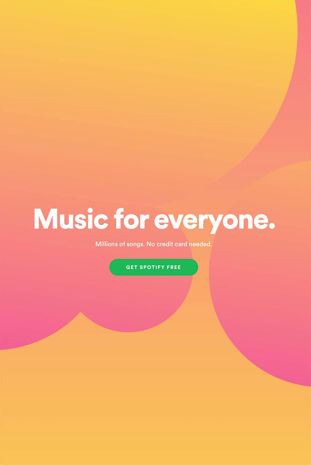 dynamic gradient Spotify