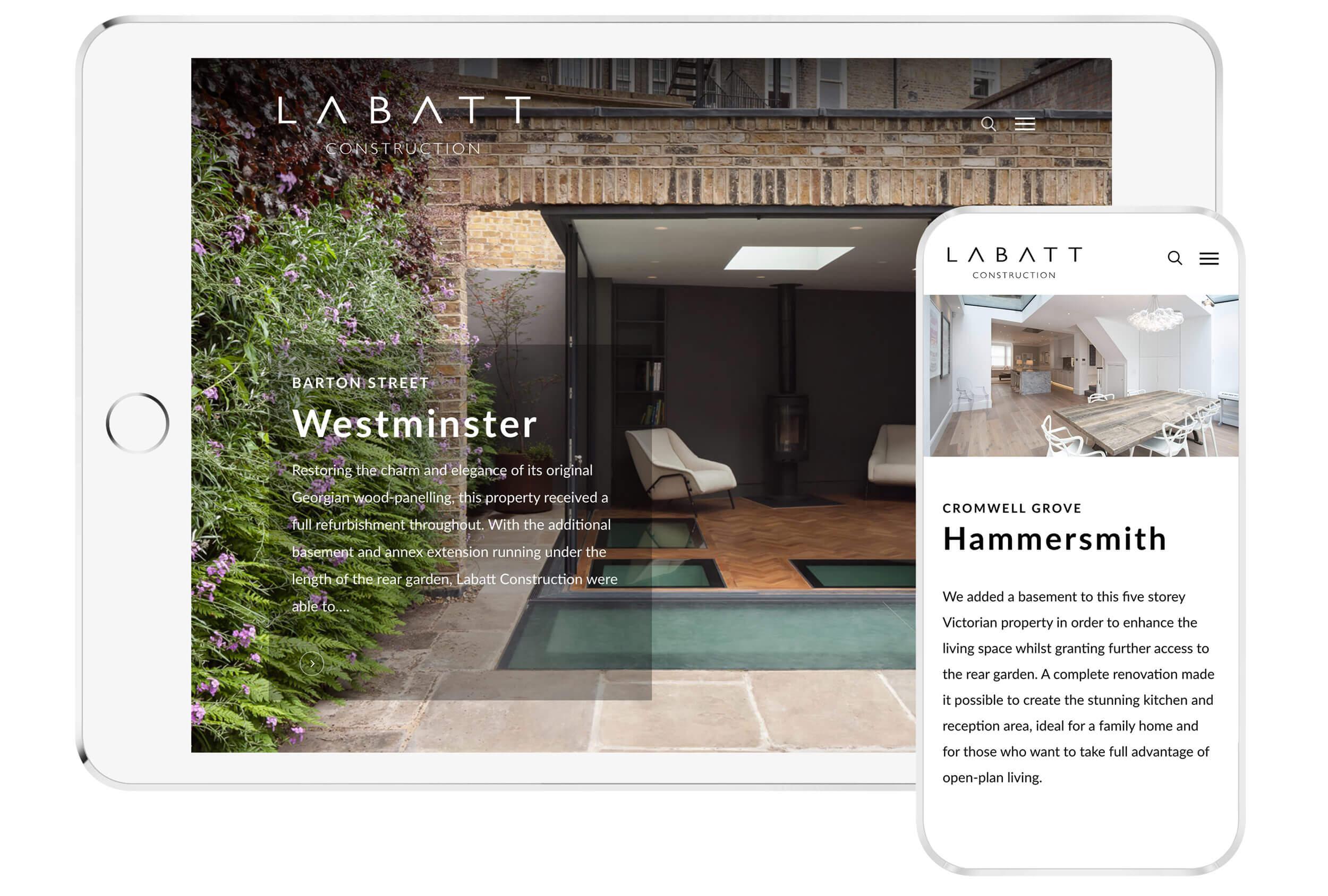 Labatt website mockup ipad iphone