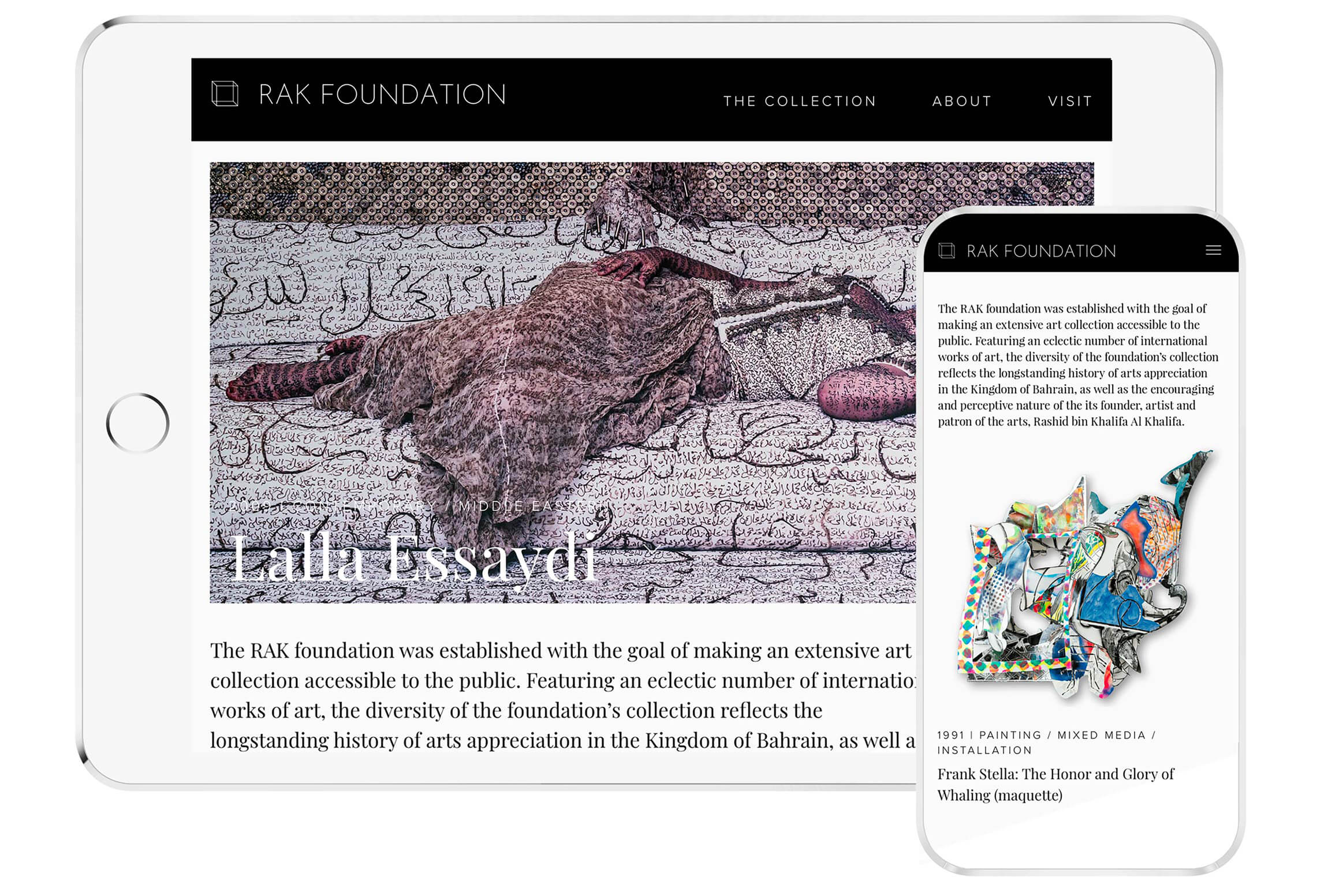 web design art collection tablet and phone