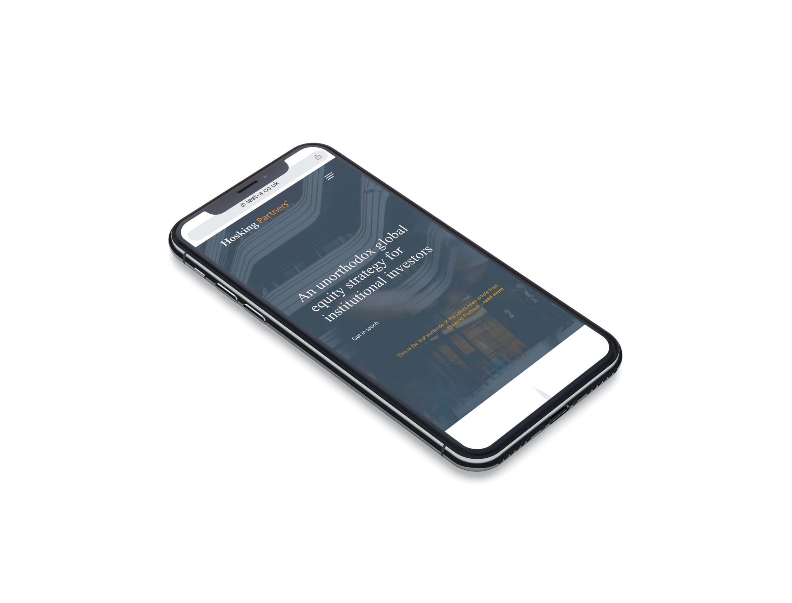 hosking partners mobile web design