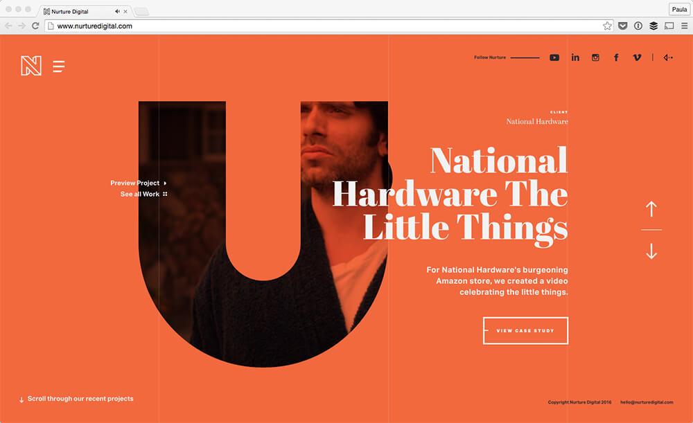 web design trend bold fonts