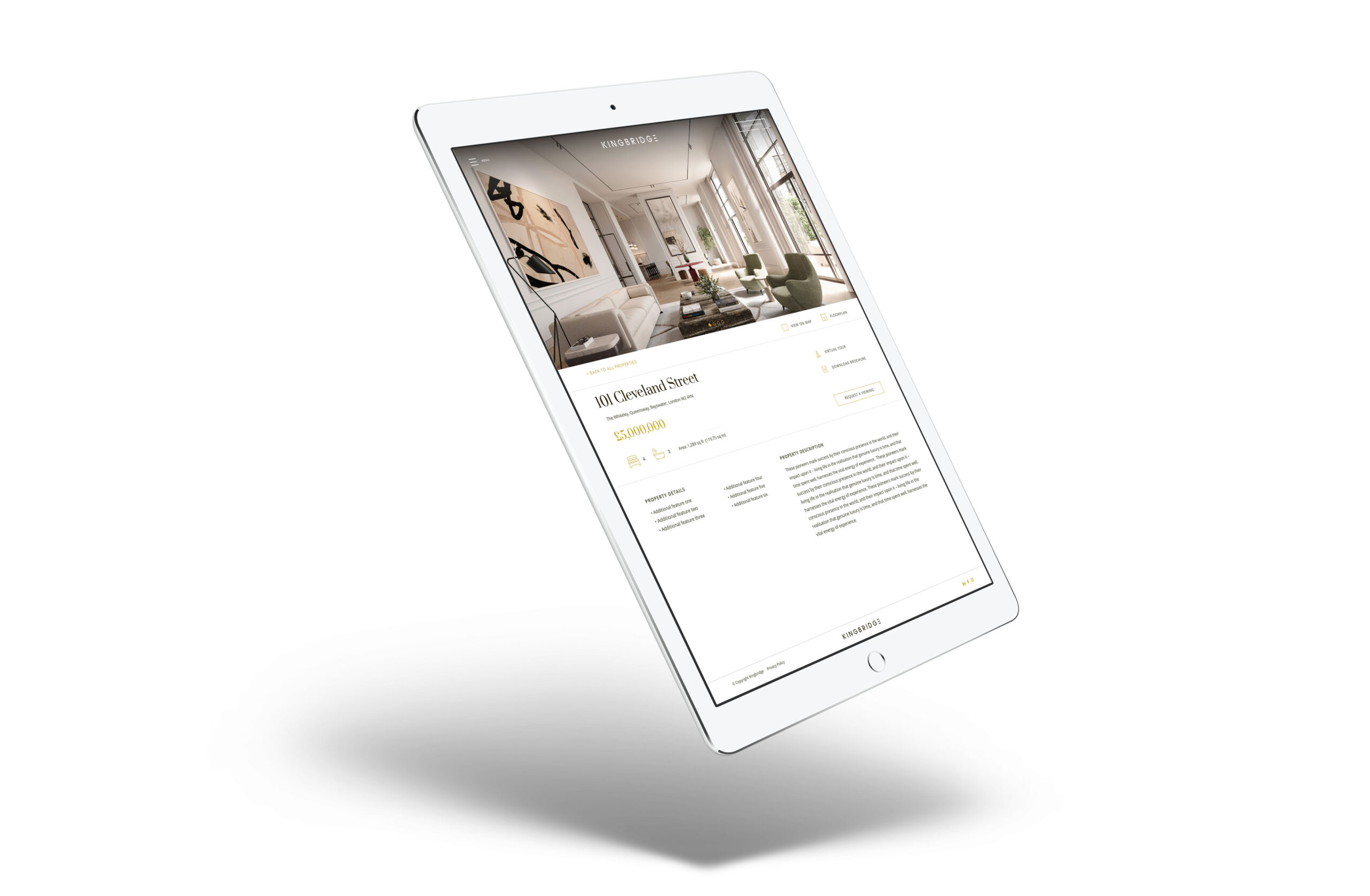 Luxury property website