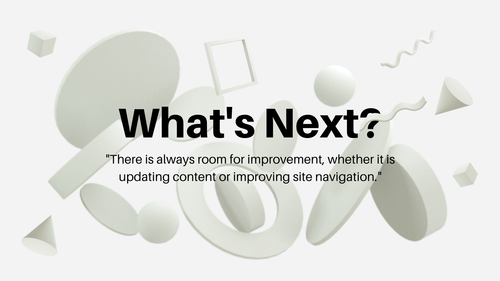 What's next for your website?
