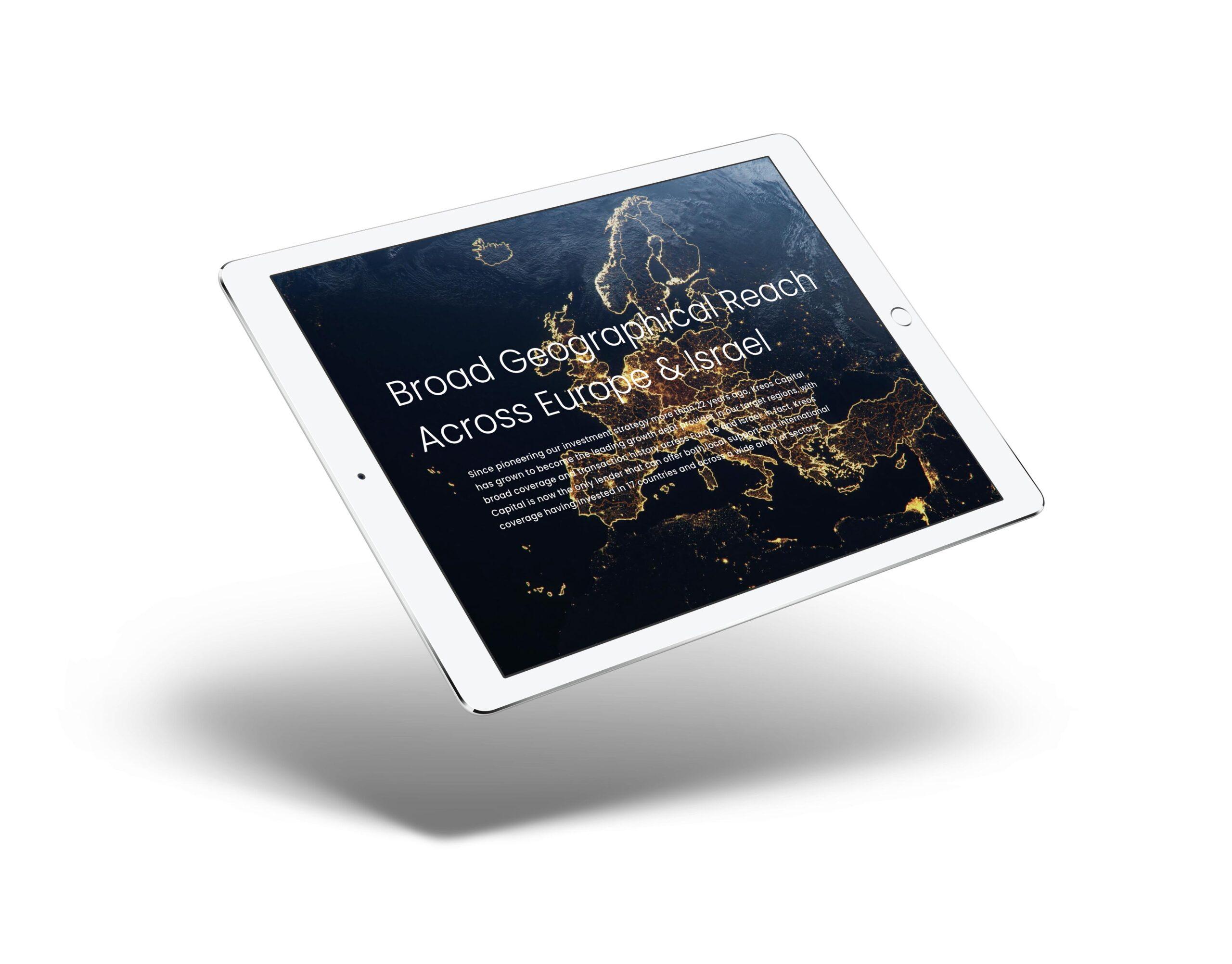 Kreos Finance web design