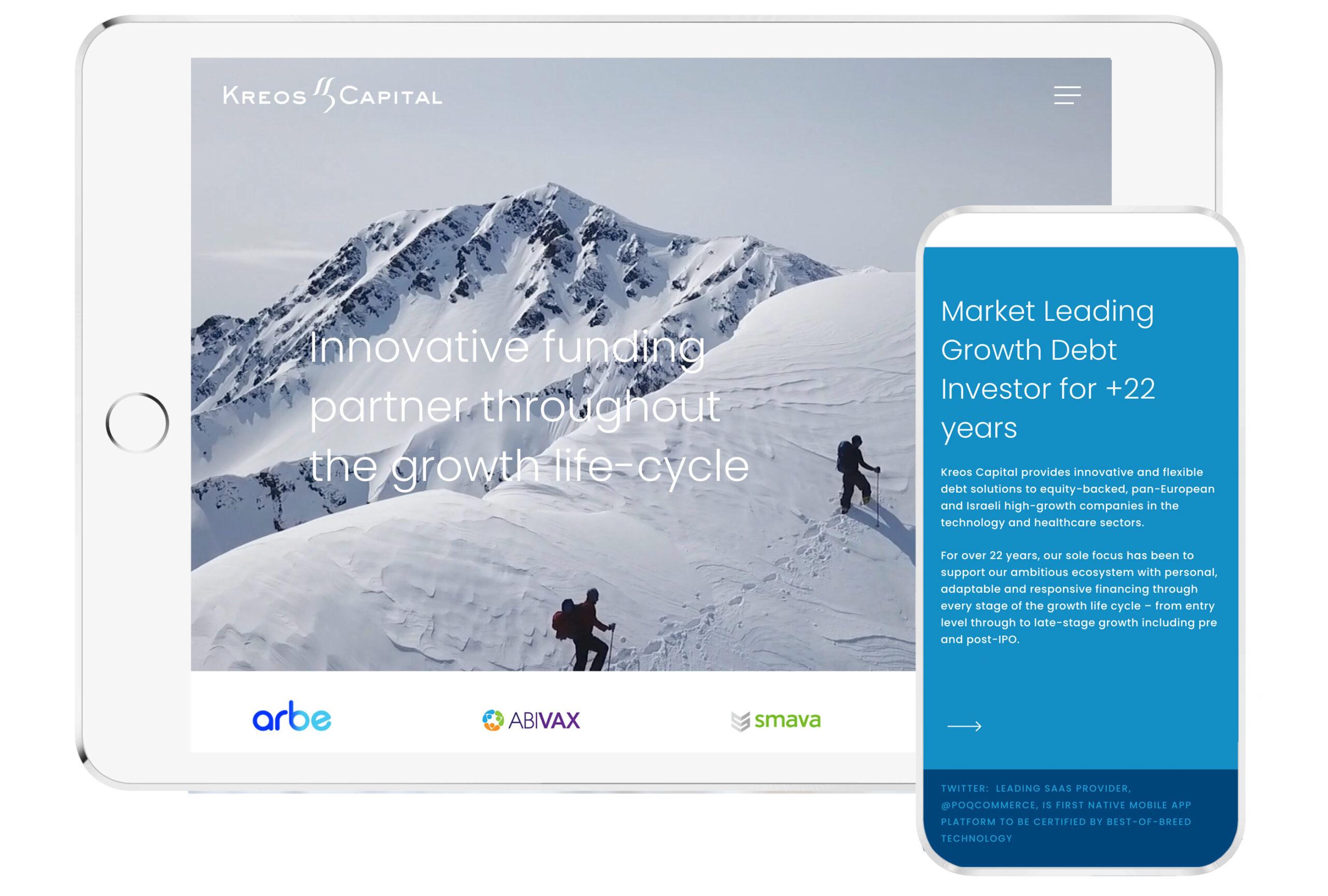Kreos Capital Financial Website Design